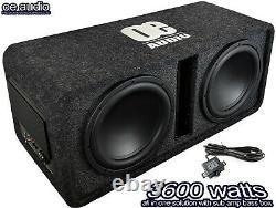 Oe-212bx Twin 12 Subwoofer Amplifié Boîte Active 3600 Watts Puissance Extrême Bass