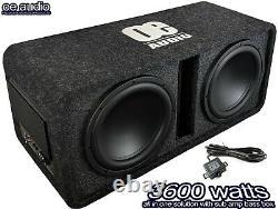 Oe Audio Double 12 Amplified Sub Double Actif Woofer Boîtier D'extrême Oe-212bx