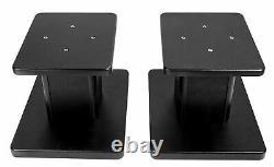 Paire Presonus Eris E3.5 3.5 Powered Studio Monitors Speakers+wood Desk Stands