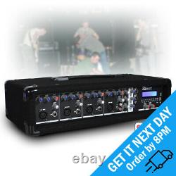 Pdm-c405a Active 4 Channel Powered Usb Audio Mixer Amplificateur Pa Bluetooth Amp