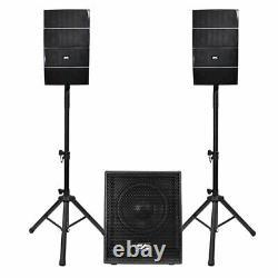 Powered Line Array Speaker System 12 Subwoofer Actif Et 8 Haut-parleurs Colonne