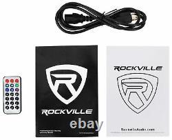 Rockville Bpa12 12 Professional Powered Active 600w Dj Pa Speaker W Bluetooth