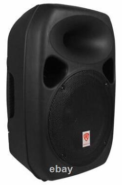 Rockville Rpg122k Dual 12 Haut-parleurs Alimentés +bluetooth+mic+stands+cables+mixer