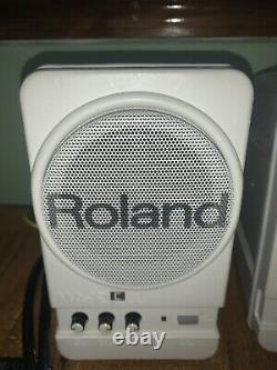 Roland Ma-12c Stereo Micro Monitors Powered Speakers Good Condition Lire Desc
