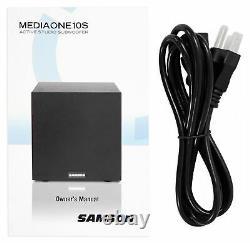 Samson Mediaone 10s 10 100 Watt Powered Studio Subwoofer Sub + Acoustic Riser