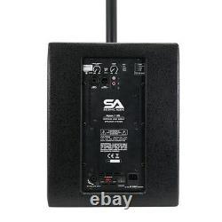 Système Pa À Colonne Motorisée 700 Watts 10 Sub & 2 Haut-parleurs Satellites Dsp