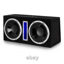 Voiture Subwoofer Active 2 X 10 Amplificateur Hi Fi Powerful Bass Audio Mp3 Led Lights