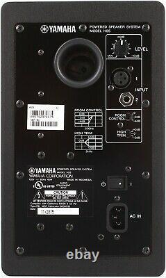 Yamaha Hs5 Active Powered Monitor Haut-parleurs Bi-amp Single